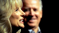 Jill Biden, shown introducing her husband at a 2013 event, is taking an active role in his campaign for president. MUST CREDIT: Photo for The Washington Post by Astrid Riecken