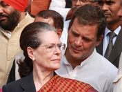 Congress President Sonia Gandhi and party leader Rahul Gandhi. (Photo: IANS)