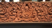 11th-century stone lintel that originated at Prasat Khao Lon in Sra Kaew. Photo/Culture Ministry