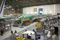 Boeing 737s at the company's manufacturing facility in Renton, Wash., on March 27, 2019. MUST CREDIT: Bloomberg photo by David Ryder. Photo by: David Ryder — Bloomberg Location: Renton, United States