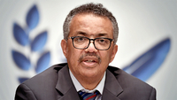 World Health Organization (WHO) Director-General Tedros Adhanom Ghebreyesus attends a news conference amid the COVID-19 outbreak at the WHO headquarters in Geneva Switzerland on July 3, 2020. [Photo/Agencies]