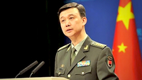 This undated photo shows Wu Qian, spokesperson for the Ministry of National Defense, speaking at a press briefing in Beijing. (PHOTO / MOD.GOV.CN)
