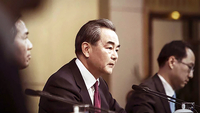 Chinese Foreign Minister Wang Yi in 2017. MUST CREDIT: Bloomberg photo by Qilai Shen