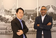 Narain Chutijirawong, left, clients and industries director at Deloitte Thailand, and Viney Hora, a partner with Deloitte Consulting