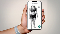 The Halo app uses photos you take of your body in minimal, tight clothing to estimate your body fat composition. CREDIT: Amazon