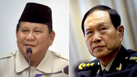 Mr Prabowo Subianto (left) and Mr Wei Fenghe also discussed the possibility of holding joint military drills and personnel training, and investments in Indonesia's food estate projects. PHOTOS: PRABOWO SUBIANTO/FACEBOOK, REUTERS