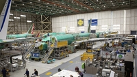 Boeing 737s at the company's manufacturing facility in Renton, Wash., on March 27, 2019. MUST CREDIT: Bloomberg photo by David Ryder.
