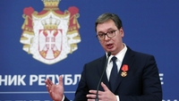 Aleksandar Vucic, Serbia's president, during a news conference in Belgrade, Serbia, on Jan. 17, 2019. MUST CREDIT: Bloomberg photo by Oliver Bunic.