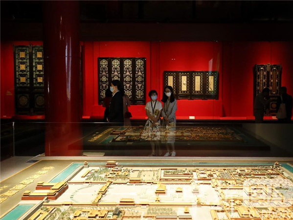 An exhibition marking the 600th anniversary of the completion of the construction of the Forbidden City opens in Beijing on Thursday. [Photo by Jiang Dong/China Daily]