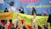 School students attend a  pro-democracy campaign on September 9 in Nonthaburi province. (Korbphuk Phromrekha/ #NationPhoto )