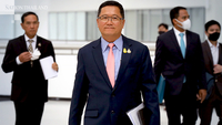 THAI acting president Chansin Treenuchagron visits the bankruptcy court this morning to hear the court's order on the airline's rehabilitation. The court has been mulling this issue since May 26.