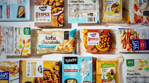 Tofu products have been in high demand since U.S. coronavirus shutdowns began in mid-March. MUST CREDIT: Photo for The Washington Post by Laura Chase de Formigny Photo by: Laura Chase de Formigny — For The Washington Post Location: Arlington, United States