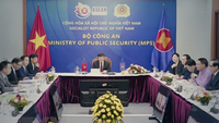 The 20th ASEAN Senior Officials Meeting on Transnational Crime (SOMTC-20) is held online on September 24. — VNA/VNS Photo