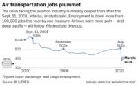 Air transportation jobs plummet Photo by: Michael Laris — The Washington Post Fi