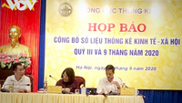 GSO General Director Nguyễn Thị Hương (centre) at a press conference held by the General Statistics Office in Hà Nội on Tuesday. — VNA/VNS Photo Linh Anh