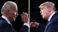 Democratic presidential nominee Joe Biden and President Trump argued against each other in a tense debate on Sept. 29. (Blair Guild/The Washington