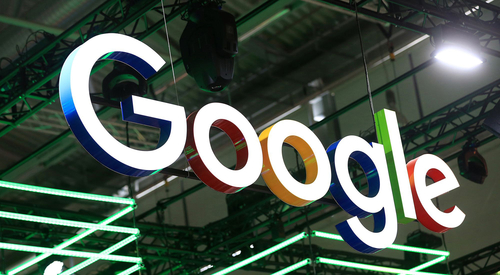 The Google logo at the Dmexco digital marketing conference in Cologne, Germany, on Sept. 14, 2016. MUST CREDIT: Bloomberg photo by Krisztian Bocsi.