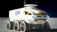An artist's rendering of the Lunar Cruiser being developed jointly by the Japan Aerospace Exploration Agency (JAXA) and Toyota (Courtesy of Toyota Motor Corp.)