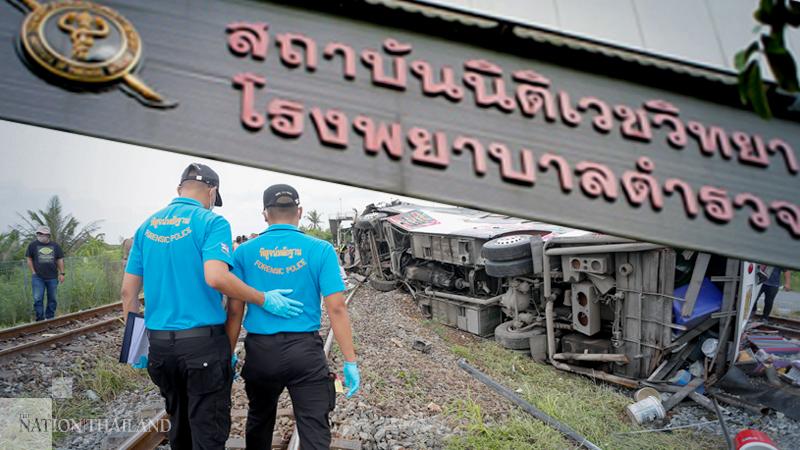 Police Identify Seven Bodies From Horror Train Bus Crash