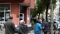 Patients wait for coronavirus tests in Berlin, Germany, on Oct. 12, 2020. MUST CREDIT: Bloomberg photo by Liesa Johannssen-Koppitz.