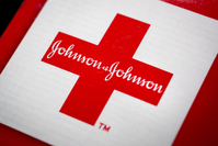 The Johnson & Johnson logo. MUST CREDIT: Bloomberg photo by Scott Eells