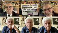 Geoff Edgers and Graham Nash in Edgers' twice weekly Instagram Live show