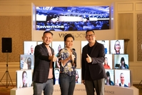 From left: Chatupol Sitichai, CEO of The Pixel One Production, Suphajee Suthumpun, Dusit International Group CEO and Puripan Bunnag, director, executive and legal affairs, TCEB