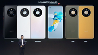 Yu Chengdong, CEO of Huawei's consumer business group, unveiled the company's Mate 40 series 5G smartphones. [Photo provided to chinadaily.com.cn]