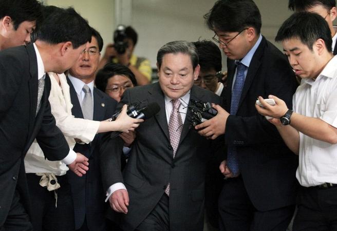 Lee Kun-hee in 2008. MUST CREDIT: Bloomberg photo by Jean Chung /Photo by: Jean Chung — Bloomberg Location: SEOUL, South Korea