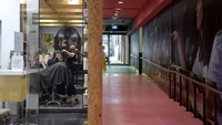 A customer gets his hair cut in Melbourne, Australia, on Oct 28, 2020. MUST CREDIT: Bloomberg photo by Carla Gottgens.