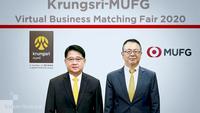 Pornsanong Tuchinda, left, Krungsri head of Commercial Banking, and Yoshiyuki Horio, Krungsri head of Japanese Corporate and Multinational Banking.