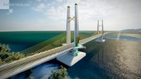 The design for the 2-kilometre bridge to link Koh Lanta with mainland Krabi.