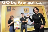 Kittiya Srisanit, head of Krungsri Auto Group, far right, at the launch event.