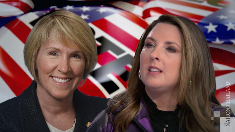 Left : GOP Chair Laura Cox,  Right : RNC Chairwoman Ronna McDaniel