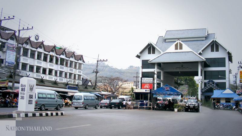 Thailand-Myanmar border gate at Mae Sai, Chaing Rai.