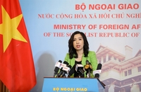 Spokesperson for the foreign ministry Lê Thị Thu Hằng answered reporters' questions during a press briefing in Hà Nội on Thursday. — VNA/VNS Photo Văn Điệp