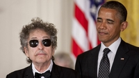 Musician Bob Dylan at a May 29, 2012, ceremony awarding him the Presidential Medal of Freedom from President Barack Obama at the White House in Washington, D.C. MUST CREDIT: Bloomberg photo by Andrew Harrer