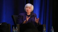 Janet Yellen, former chair of the U.S. Federal Reserve, speaks during the American Economic Association and Allied Social Science Association Annual Meeting in Atlanta on Jan. 4, 2019. MUST CREDIT: Bloomberg photo by Elijah Nouvelage.