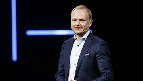 Pekka Lundmark during a news conference at the Nokia Executive Experience Center in Espoo, Finland, on March 2, 2020. MUST CREDIT: Bloomberg photo by Roni Rekomaa.
