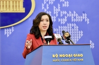 Việt Nam Ministry of Foreign Affairs Lê Thị Thu Hằng responded to the media questions during the regular press briefing held in Hà Nội on Thursday. — VNA/VNS Photo