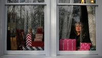 Amy Solo of Greensboro, N.C., with the family presents she was set to deliver to Virginia on Wednesday. MUST CREDIT: Photo for The Washington Post by Eamon Queeney