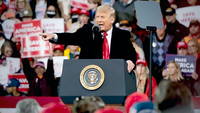 President Donald Trump speaks during a rally in Valdosta, Ga., on Dec. 5. MUST CREDIT: Bloomberg photo by Elijah Nouvelage