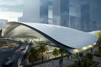 An artist's impression of the High Speed Rail Terminal in Jurong East for the terminated project. PHOTO: FARRELLS