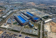 This photo, provided by Samsung Electronics Co. on May 21, 2020, shows the company's chip plant in Pyeongtaek, 70 kilometers south of Seoul. (Samsung Electronics Co.)