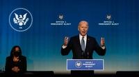 President-elect Joe Biden speaks in Wilmington, Del., on Thursday, Jan. 7, 2021.
