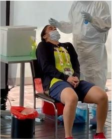 Senal Nehwal during a test.