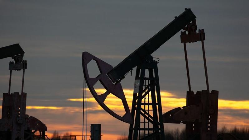 An oil pumping jack in an oilfield near Neftekamsk, in the Republic of Bashkortostan, Russia, on Nov. 19, 2020. MUST CREDIT: Bloomberg photo by Andrey Rudakov.