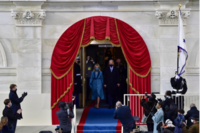 President-elect Joe Biden and Jill Biden arrive on the West Front of the U.S. Capitol for Inauguration Day on Jan. 20 in Washington. Biden became the 46th U.S. president during the ceremony. MUST CREDIT: Washington Post photo by Toni L. Sandys