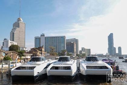(File photo of Chao Phraya electric boats)