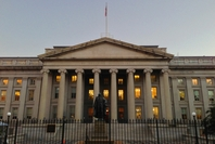 The U.S. Treasury Department building in 2012 in Washington, D.C. Washington Post photo by Robert Miller